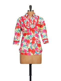 Bright Floral Print Shirt - STYLE QUOTIENT BY NOI