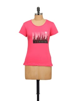 City Landscape Print Tee - STYLE QUOTIENT BY NOI