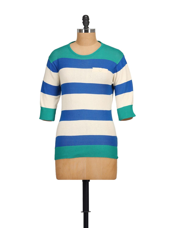 Blue & White Striped Top - NOI