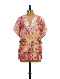 Floral Kaftan Top - House Of Tantrums