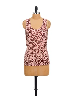 Chic Animal Print Top - House Of Tantrums