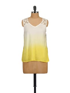 Lacey Shoulder Top In White - House Of Tantrums