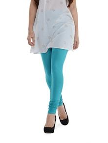 Blue Cotton Leggings - SORRISO