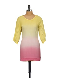 Dual Coloured Top In Yellow And Pink - House Of Tantrums