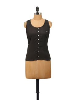 Chic Sleeveless Top In Black - House Of Tantrums