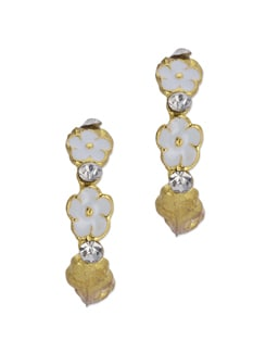 Floral Gold Earrings - Blend Fashion Accessories