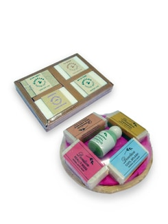Delightful Set Of Gift Soap Set And A Set Of  4 Soaps In Corrugated Box - Cottage Industries