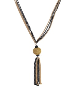 Black & Gold Pendant Necklace - YOUSHINE