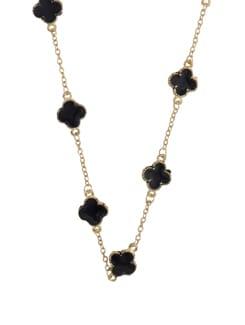 Gold & Black Stone Necklace - YOUSHINE
