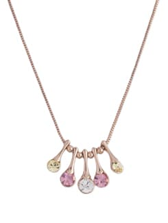 Multi Freesia 14K Rose Gold Plated Neckpiece - Ivory Tag