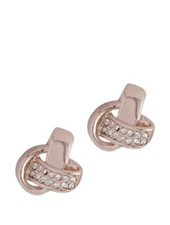 Intertwined Rose Gold Plated Earrings - Ivory Tag
