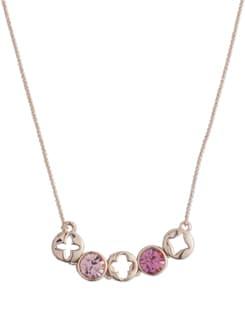 Tranquil Stone 14K Rose Gold Plated Neckpiece - Ivory Tag
