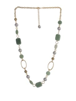 Raving Green Aventurine Long Necklace - Ivory Tag
