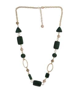 Raving Malachite Long Necklace - Ivory Tag