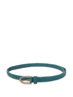 Teal Blue Thin Belt - Lino Perros