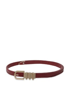 Chic Deep Red Belt - Lino Perros
