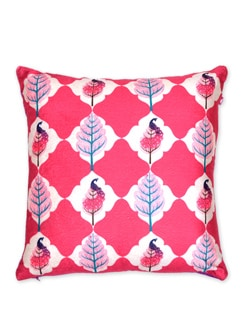 Tamara Floral Flavour Poly Velvet Cushion Cover - India Circus
