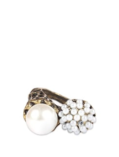 Bronze Engraved Pearl Ring - ANTIFORMAL