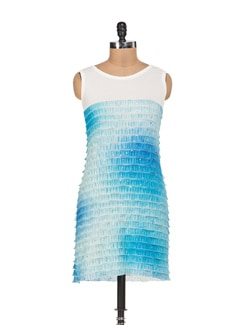 Blue Shaded Tiered Dress - Sanchey