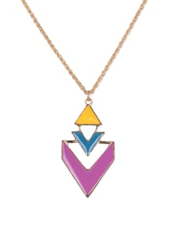 Stylish Multicolored Pendant Necklace - YOUSHINE