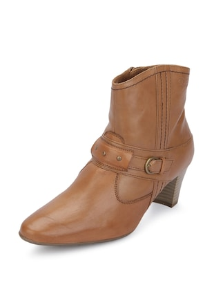 Tan  leather Boots -  online shopping for boots