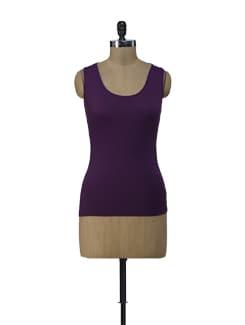 Purple Lacy Tank Top - ShopImagine