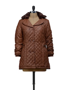 Smart Brown Quilted Jacket - VOILE