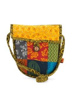 Ethnic Sequined Sling Bag - Desiweaves