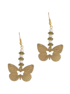 Crystal Butterfly Drop Earring - Blend Fashion Accessories