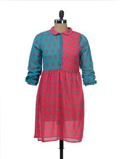 Contemporary Lotus Print Dress - NUN