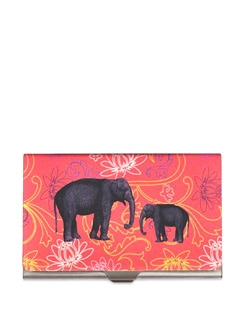 Floral Elephant Steel Cardholder - The Elephant Company