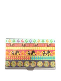 Temple Elephant Steel Cardholder - The Elephant Company