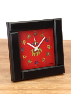 Flying Elephants Red Alarm Clock - The Elephant Company
