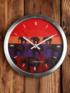 Steel Elephant Stack Clock - The Elephant Company