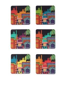 MDF Coasters Elephant Savari - The Elephant Company