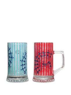 Beer Mugs S/2 Dancing Warli - The Elephant Company