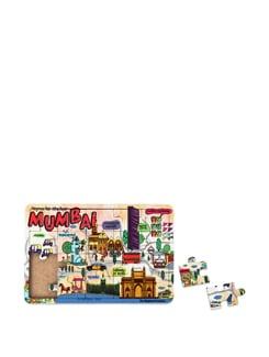 Puzzle Coaster MDF Mumbai Map - The Elephant Company