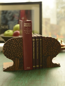 Tree Of Life Book End In Sheesham Wood - ExclusiveLane