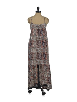 Egyptian Printed Maxi Dress - Thegudlook