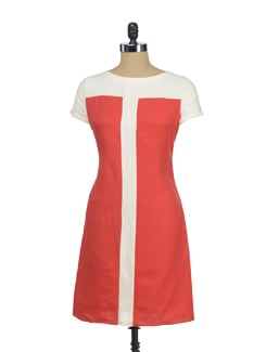 Red Dress With A Panel - I KNOW By Timsy & Siddhartha