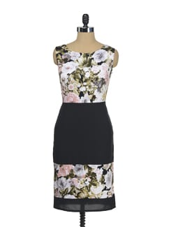 Black Floral Dress - I KNOW By Timsy & Siddhartha