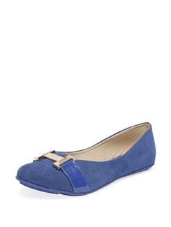 Trendy Blue & Gold Ballerinas - MARIE SOFT