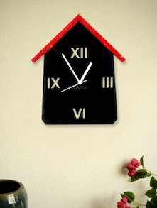 Red And Black Hut  Wall Clock - Zeeshaan