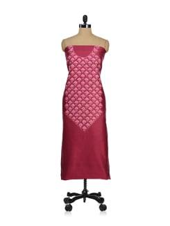 Designer Dark Pink Embroidered Suit - Kashmir Designer Atrs
