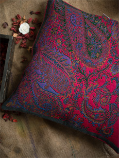 Lavish Paisley & Flower Patten Cushion Cover - TIARA