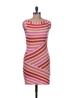 Zigzag Stripe Dress - Color Cocktail