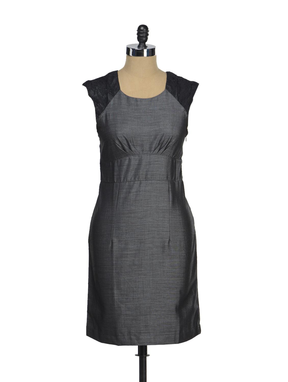 Chic Grey & Black Dress - AND