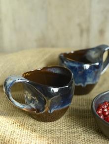 Studio Curved Mug - Black And Brown (Set Of 2) - Cultural Concepts
