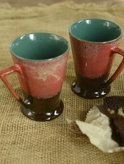 Studio Curved Mug - Black And Orange (Set Of 2) - Cultural Concepts