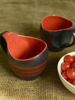 Textured Milk Mugs- Set Of 2 - Cultural Concepts